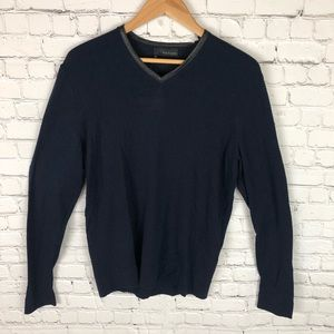 NWT The Kooples Merino Wool & Leather Sweater